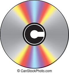Copyright CD - Bright CD with copyright sign in center