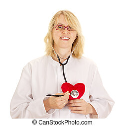 Medical doctor with heart