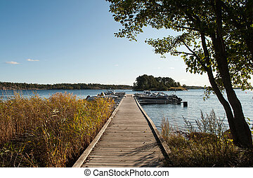 Jetty in the Swedish Archipelago - Early autumn in St Anna...