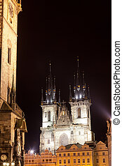 Prague, Virgin Marys church before Tyn