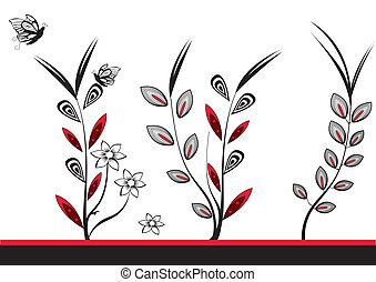 three flower design