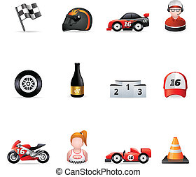Web Icons - Racing - Racing icon series. EPS 10 with...