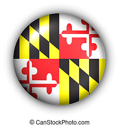 Round Button USA State Flag of Maryland - USA States Flag...