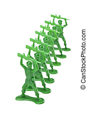 pieces of green toy soldiers