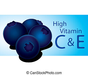 blueberry high vitamin C vector - The abstract of...