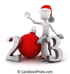 3d man, Happy new year 2013!