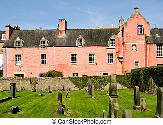 Abbot House from Dunfermline Abbey