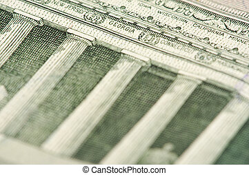 Macro of Five Dollar Bill Back - Macro of the back of the US...