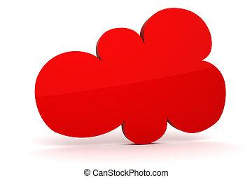 3d colorfull cloud shape of bubble talk