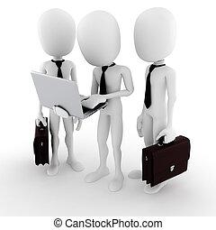 3d man team work, business concept
