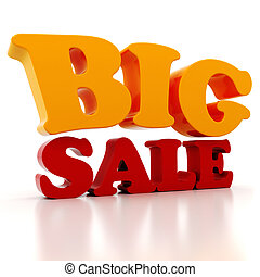 3d Sale text, on white background