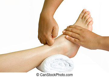 foot massage, spa foot oil treatment