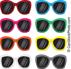 Sunglasses Colors - Plastic framed sunglasses in various...