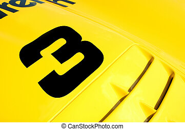 race car 3 - colorful race car close-up featuring number 3...