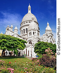 "Sacre Coeur. - The basilica Sacre Coeur (""Basilica of the..."