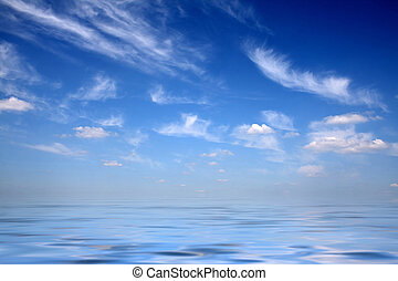 Skies upon water