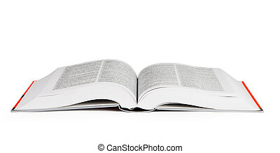 Open book - Big open book on white background, with clipping...