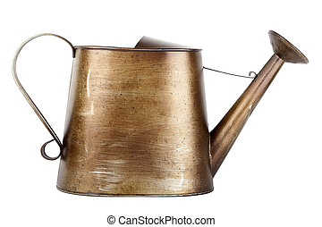 Vintage watering can - Small vintage watering can isolated...