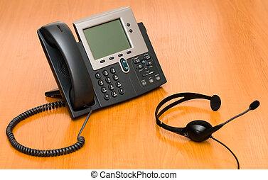 Voip, teléfono, auriculares