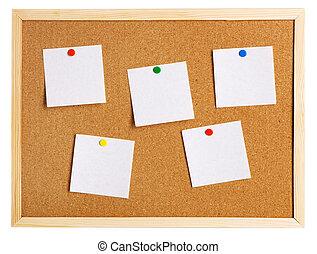 Corkboard on white background