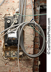 Active energy meter - Grungy active energy meter with lots...
