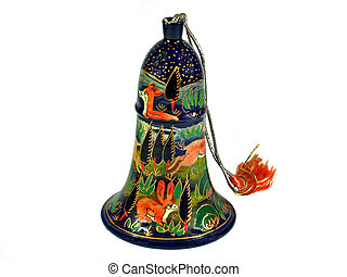 Traditional decorative bell Nepal isolated - Traditional...
