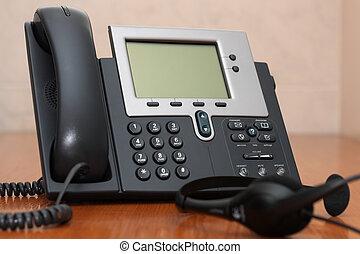 IP, teléfono, auriculares
