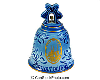 Christmas bell Denmark isolated - Festive decorated...