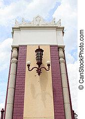 Gatepost at Lumpini Park in Bangkok, Thailand.