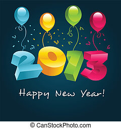 Happy New Year 2013 - Vector happy new year 2013 greeting...