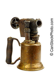Old blowtorch - Old blowtorch on a white background