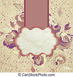 Romantic vintage rose background. EPS 8
