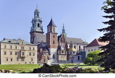 Wawel Cathedral in Krakow, Poland - Cathedral on Wawel Hill...