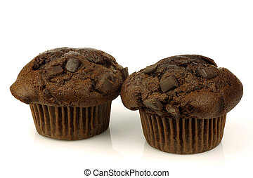 freshly baked chocolate muffins