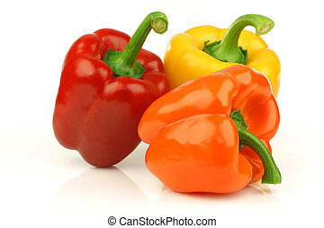 red, orange and yellow paprika