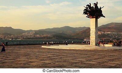 Smyrna city - sunset at Smyrna city Turkey