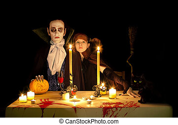 Vampire's halloween - The evening meal on Halloween....