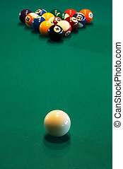 billiard table - Spheres for game in a pool on a billiard...