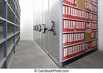 Ring binders storage - Company documents in ring binders at...