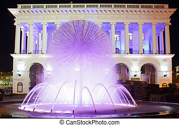 Vibrant Historical Building and fountain taken in Kiev,...