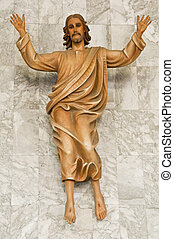 Jesus Statue - This is a statue of Jesus christ in a...