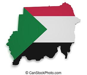 Sudan Map 3d Shape