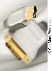 HDMI Cable - closeup - Macro Shot of HDMI Cable