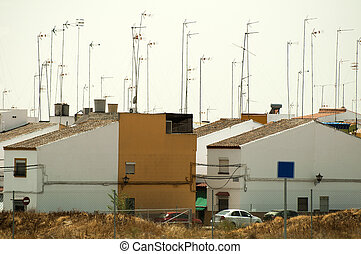Houses and antennas