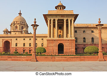 Indian Government buildings, Raj Path, New Delhi, India