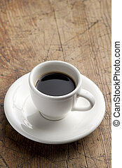 Coffe cup. - White china coffee cup on the table.