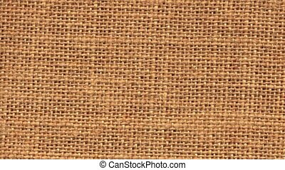 Zoom closeup on sackcloth material
