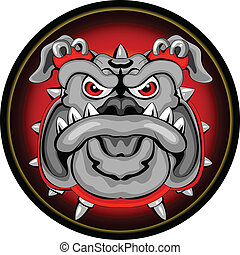 Bulldog Mascot Head - vector illustration of Bulldog Mascot...