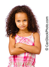 Portrait of mixed race girl - Portrait of pretty...