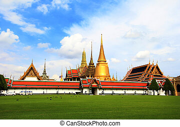 Wat Phra Kaew , Temple of the Emerald Buddha , Bangkok...